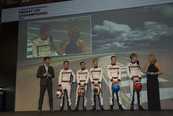 The 2014 Porsche LMP1 drivers are announced: Mark Webber, Romain Dumas, Neel Jani, Timo Bernhard, Marc Lieb and Brendon Hartley