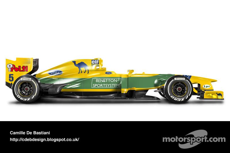 Formel-1-Auto im Retrodesign: Benetton 1993