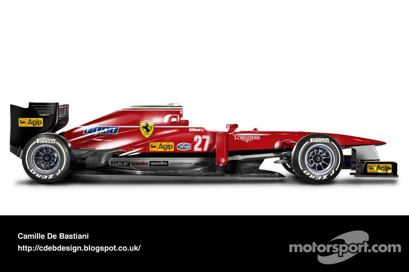 Carro de F1 retrô - Ferrari 1982