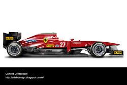 Formel-1-Auto im Retrodesign: Ferrari 1982