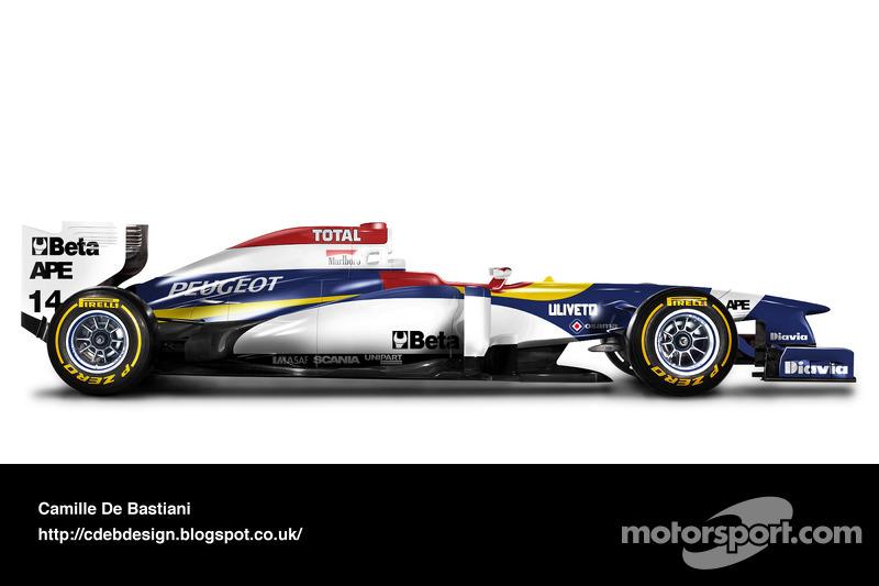 Formel-1-Auto im Retrodesign: Jordan 1995