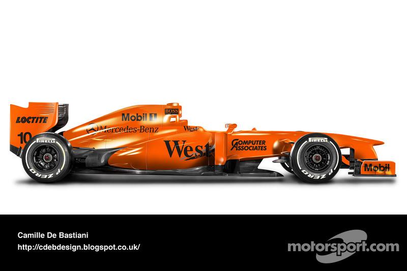 Formel-1-Auto im Retrodesign: McLaren 1997 (vor Saisonbeginn)