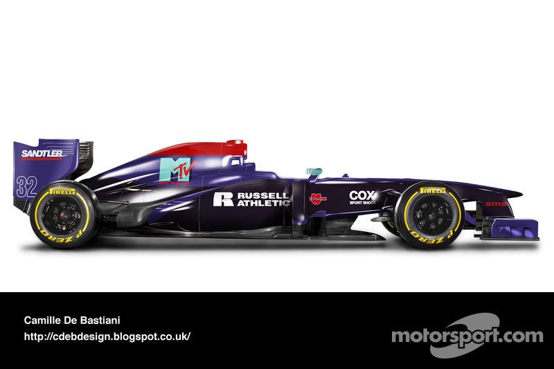 سيارة فورمولا واحد حديثة بألوان سيمتيك 1994