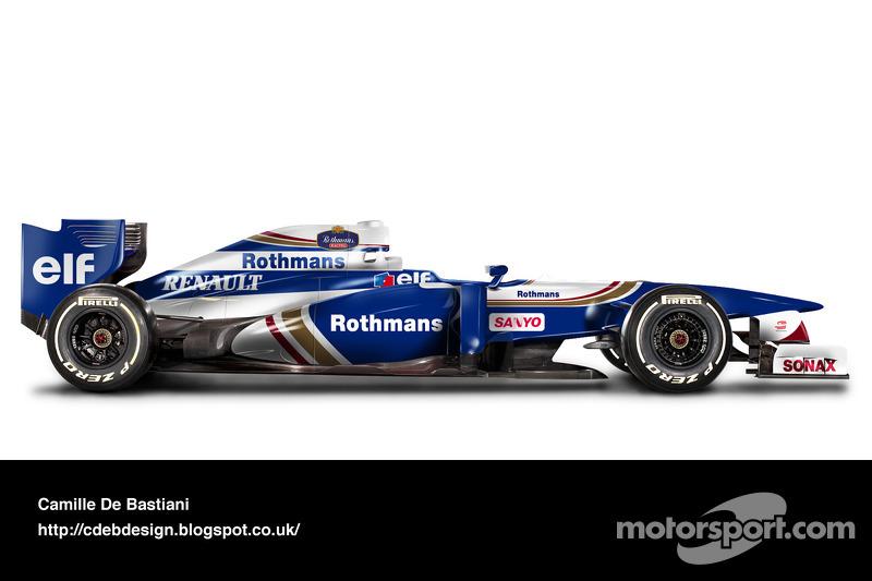Formel-1-Auto im Retrodesign: Williams 1996