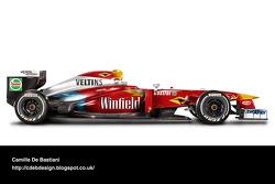 سيارة فورمولا واحد حديثة بألوان ويليامز 1999