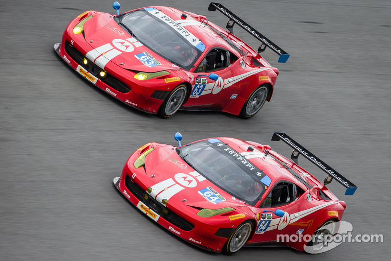 #64 Scuderia Corsa 法拉利 458 Italia: 罗德·兰达尔, 约翰·法拉诺, 肯·维尔登, 大卫·恩普林汉姆, #63 Scuderia Corsa 法拉利 458 Itali