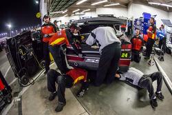 Crew members for Jeff Gordon, Hendrick Motorsports Chevrolet at work