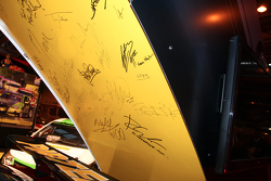 famous Signatures on the Dunlop stand
