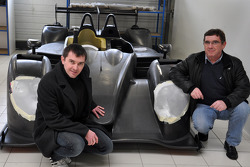 Claude and Julien Schell with the new Pegasus Racing Morgan LM P2