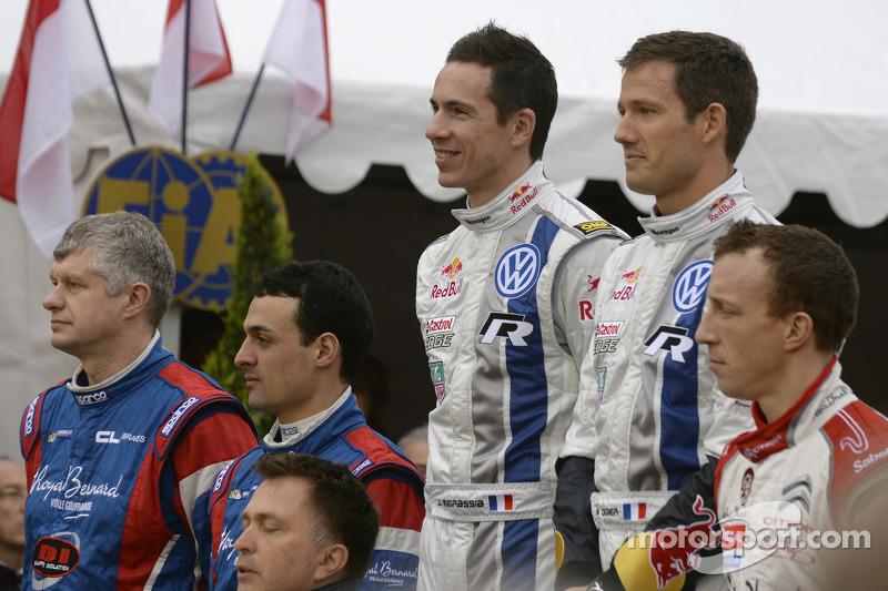 Vincitori Sébastien Ogier e Julien Ingrassia, secono posto Bryan Bouffier and Xavier Panseri, terzo