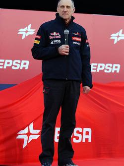 Franz Tost, Scuderia Toro Rosso Team Principal alla presentazione della Scuderia Toro Rosso STR9
