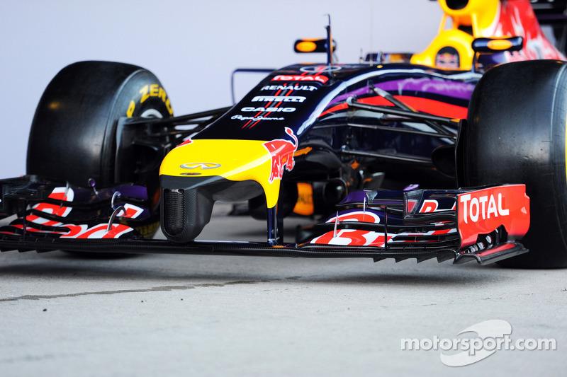 Presentación del nuevo Red Bull Racing RB10 - Alerón delantero y ojiva