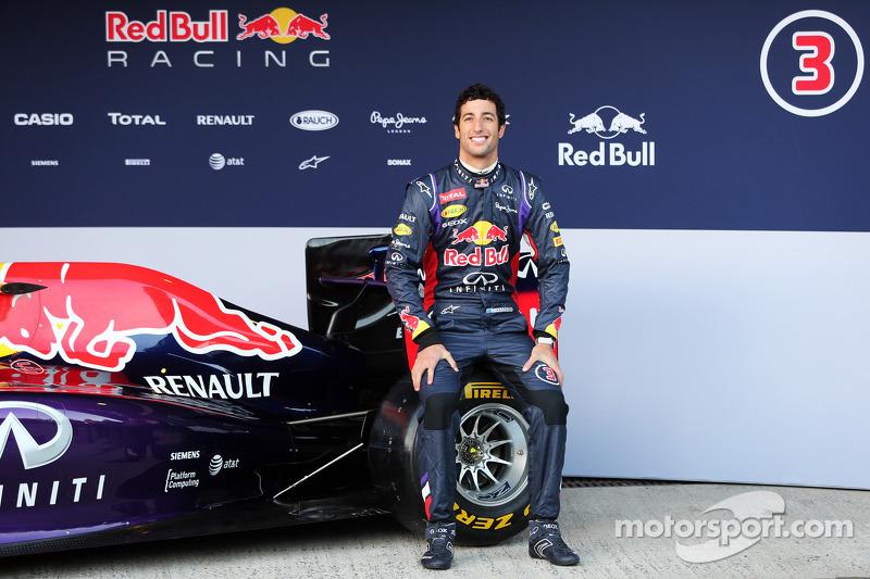 Daniel Ricciardo, Red Bull Racing at the unveiling of the Red Bull Racing RB10