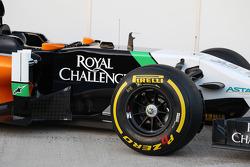 Sahara Force India F1 VJM07 - sidepod detalle