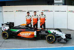 Sergio Pérez, Sahara Force India F1 con Daniel Juncadella, Sahara Force India F1 Team Piloto de Prue