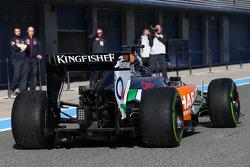 塞尔吉奥·佩雷斯, 印度力量F1 VJM07赛车,离开维修区
