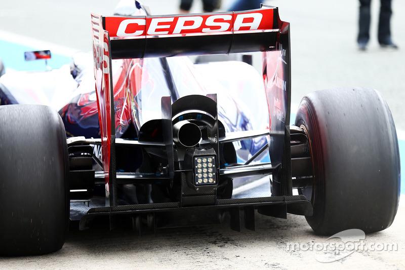 Jean-Eric Vergne, Scuderia Toro Rosso STR9 ala posteriore e diffusore posteriore