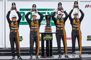 North American Endurance Cup podium: P class winners Wayne Taylor, Max Angelelli, Ricky Taylor, Jordan Taylor