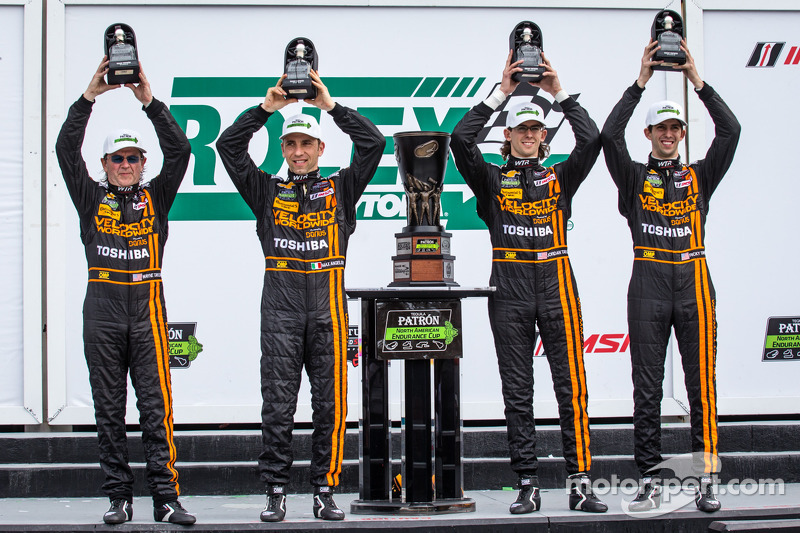 North American Endurance Cup podium: P class winners Wayne Taylor, Max Angelelli, Ricky Taylor, Jordan Taylor