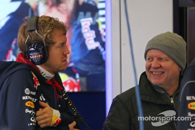 Sebastian Vettel, Red Bull Racing with his father Norbert Vettel (GER)