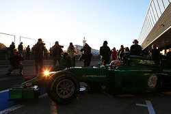 Robin Frijns, Caterham CT05 Test and Reserve Driver leaves the pits
