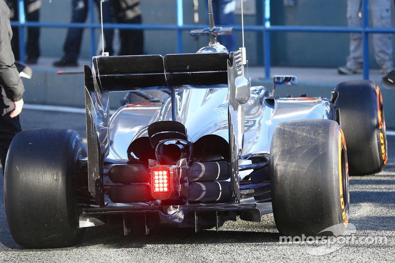 Jenson Button,  McLaren MP4-29 dettaglio posteriore