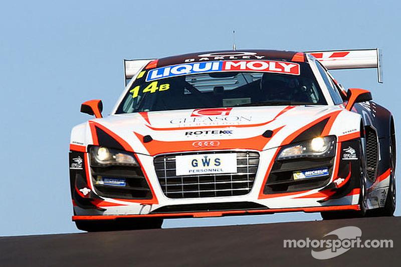 #14 Rotek Racing 奥迪 R8 LMS: 奥利弗·加文, 罗伯·荷夫, 理查德·迈因斯, 凯文·格利森