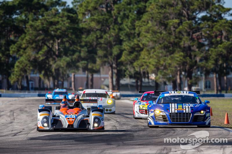 #25 8Star Motorsports ORECA FLM09 雪佛兰: 恩佐·波托里齐奥, 汤姆·金博-史密斯, 迈克尔·马尔萨尔, #46 Fall-Line Motorsports 奥迪 R