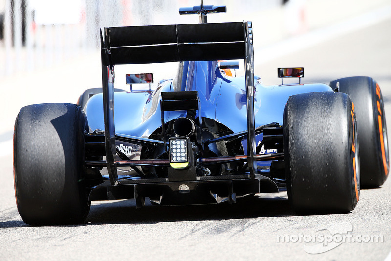 Felipe Nasr, Williams FW36 Test and Reserve Driver rear diffuser detail