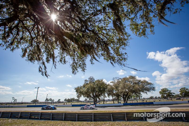 #32 GMG Racing 奥迪 R8 LMS: 詹姆斯·索夫罗纳斯, 阿历克斯·韦尔希, 马克·巴桑, #912 保时捷 北美 保时捷 911 RSR: 帕特里克·朗, 迈克尔·克里斯滕森, 约格