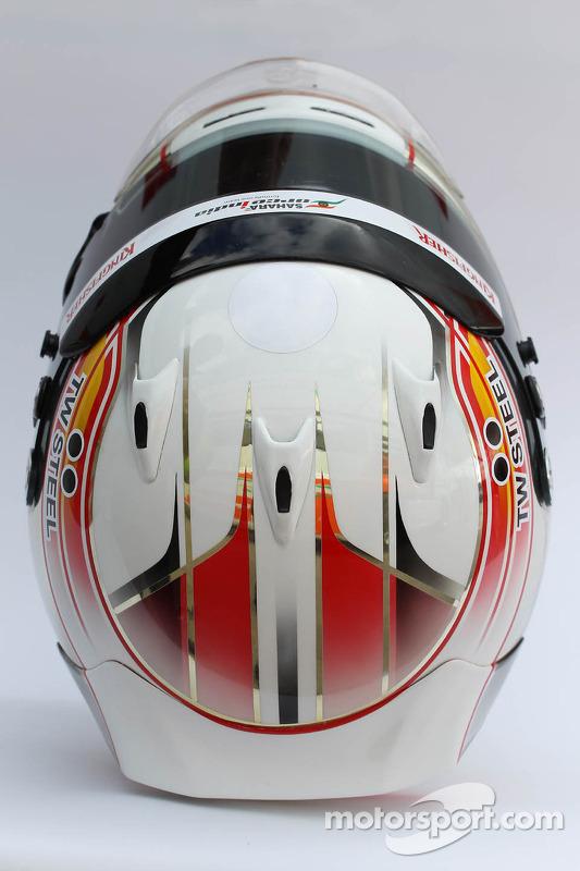 Il casco di Daniel Juncadella, Sahara Force India F1 Team tester e pilota di riserva