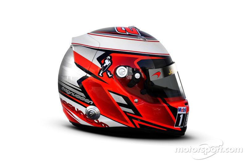 Il casco di Kevin Magnussen, McLaren