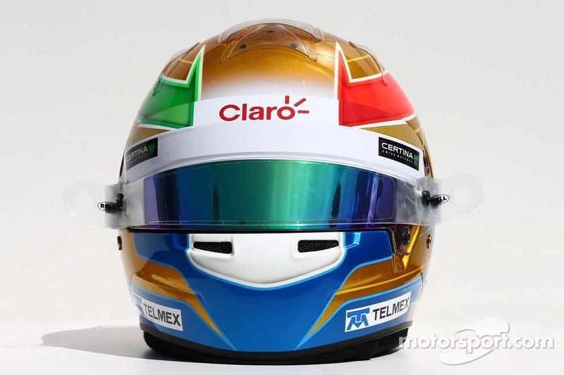 Il casco di Esteban Gutierrez, Sauber