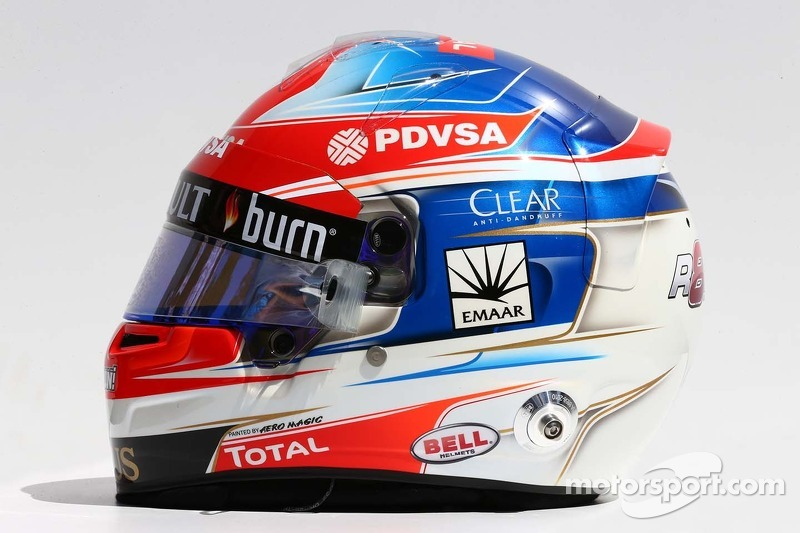 Il casco di Romain Grosjean, Lotus F1 Team