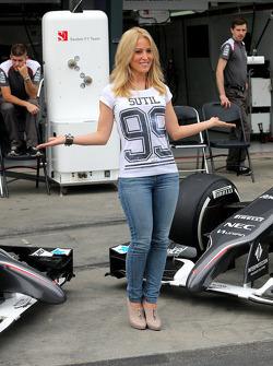 Jennifer Becks, girlfriend of Adrian Sutil, Sauber F1 Team