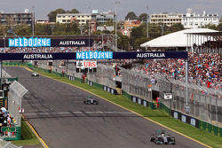 Nico Rosberg, Mercedes AMG F1 W05 y Lewis Hamilton, Mercedes AMG F1 W05