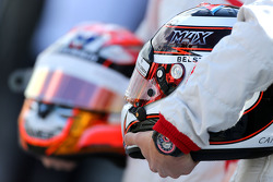 Helmets of Max Chilton, Marussia F1 Team and Jules Bianchi, Marussia F1 Team