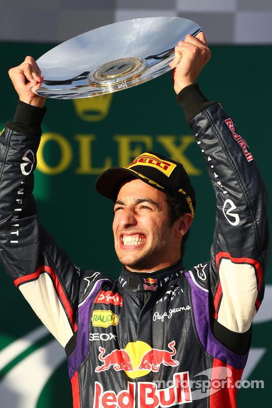segundo colocado Daniel Ricciardo, Red Bull Racing