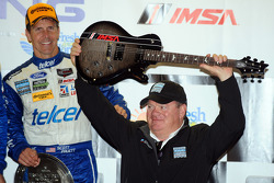Chip Ganassi gets a guitar for winning team owner