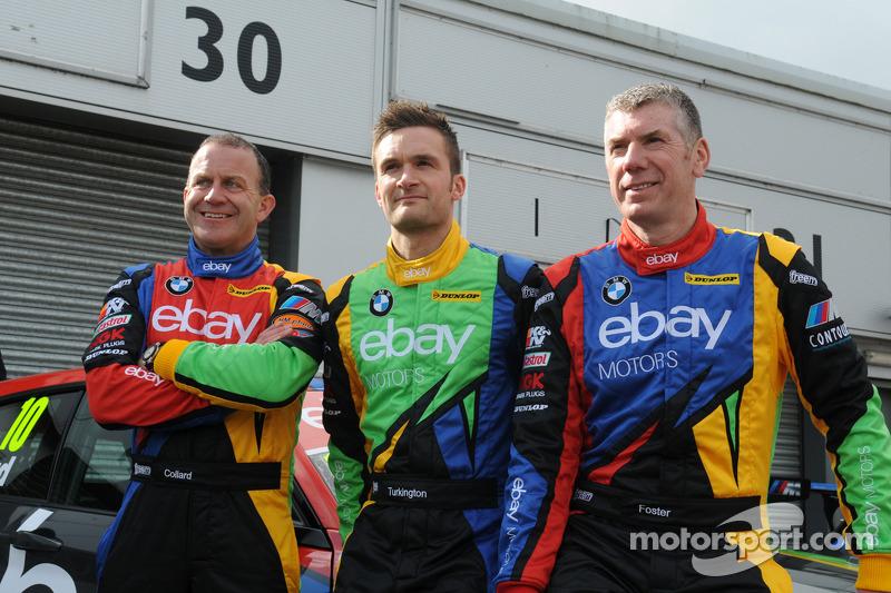eBay Motors trio Rob Collard, Colin Turkington e Nick Foster