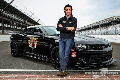Dario Franchitti sulla pace car alla Indy 500