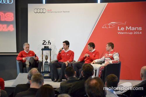 Le warmup Audi au Mans