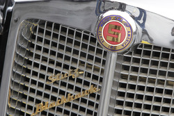 A detail shot of the front of Elvis Presley's 1973 Stutz Blackhawk III