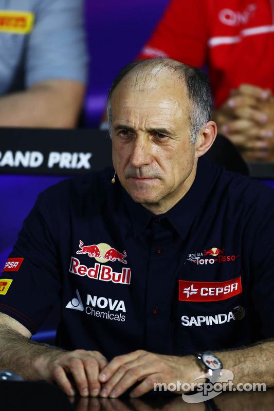 Franz Tost, Scuderia Toro Rosso Team Principal alla conferenza stampa FIA