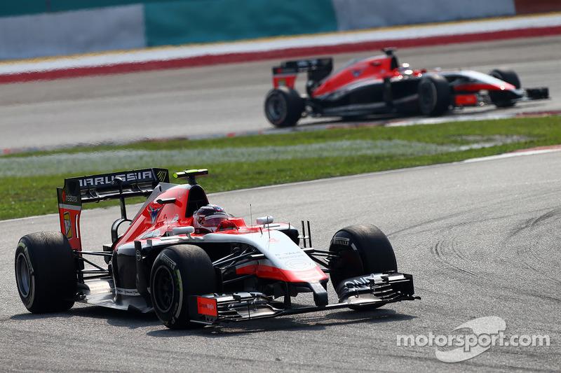 Max Chilton, Marussia F1 Takımı MR03 ve Jules Bianchi, Marussia F1 Takımı MR03