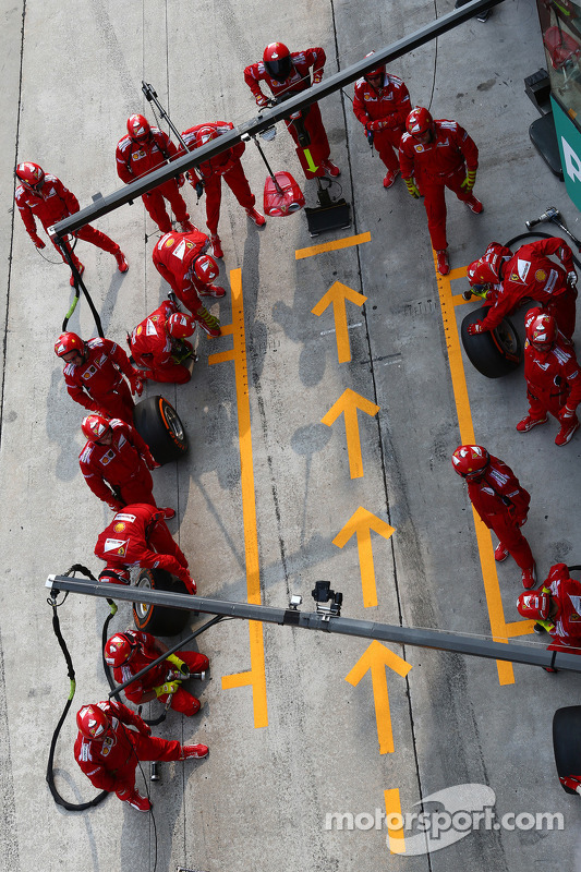 Boxenstopp: Fernando Alonso, Ferrari F14-T