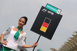 Sebastian Vettel (GER), Red Bull Racing, grid girl 30