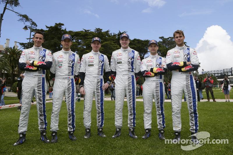 Sébastien Ogier, Julien Ingrassia, Miikka Anttila, Jari-Matti Latvala, Mikko Markkula, Andreas Mikkelsen