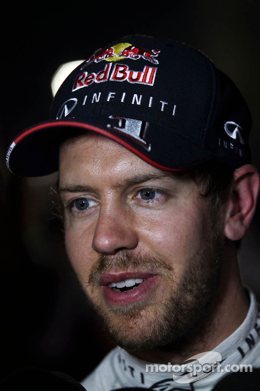 Sebastian Vettel, Red Bull Racing com the media