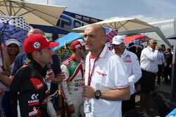 Gianni Morbidelli, Chevrolet Cruze RML TC1, ALL-INKL_COM Munnich Motorsport e Gabriele Tarquini, Honda Civic WTCC, Castrol Honda WTC team